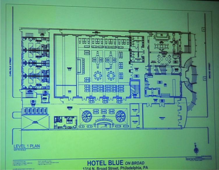 Architectural Drawings of Hotel Blue on Broad